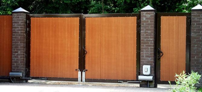 Автоматические въездные ворота